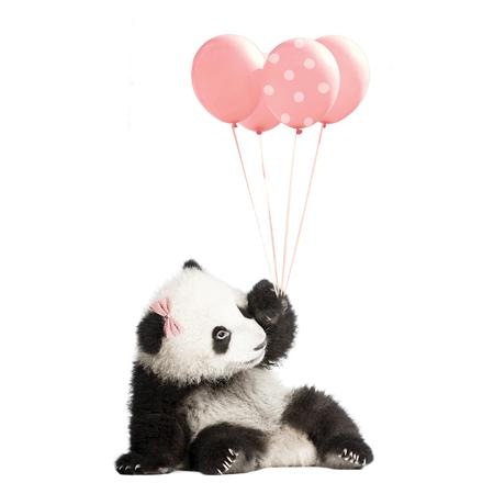 Slika Dekornik® Stenska nalepka Pink Panda - M