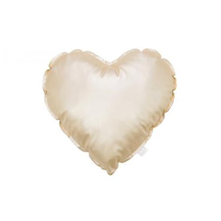 Slika Cotton&Sweets® Dekorativna blazina Srček Zlat