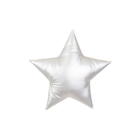 Slika Cotton&Sweets® Dekorativna blazina Zvezdica Srebrna