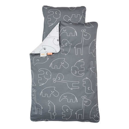 Slika Done by Deer® Posteljnina Sleepy Grey - 70x100; 40x45