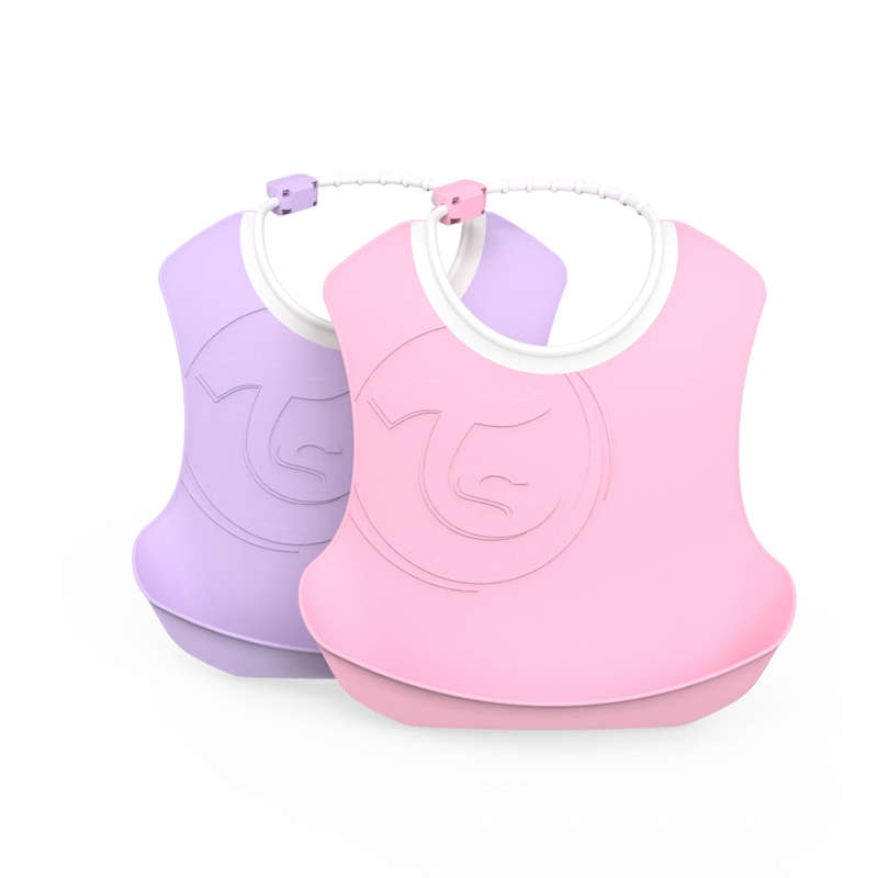 Picture of Twistshake 2x Bib Pastel Pink&Purple (4+M)