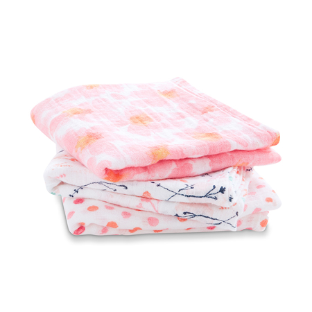 Picture of Aden+Anais® Muslin Squares 3-Pack Petal Blooms 70x70)