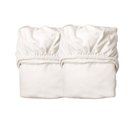 Slika Leander® Otroška jogi rjuha za zibelko 2 kosa 79x49 White/White