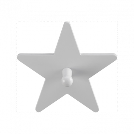 Slika Kids Concept® Leseni obešalnik Star Grey