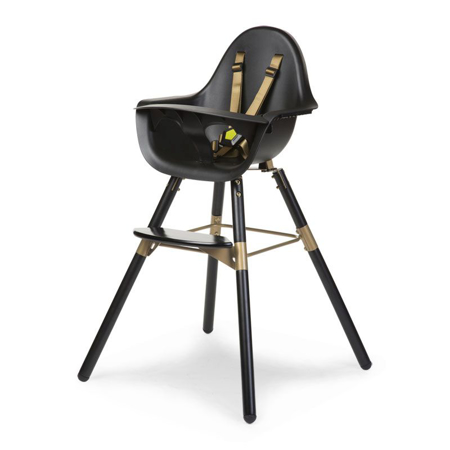 Slika Childhome® Otroški stol Evolu 2 Black/Gold