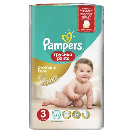 Slika Pampers® Premium hlačne pleničke vel. 3 (6-11 kg) 56 kosov