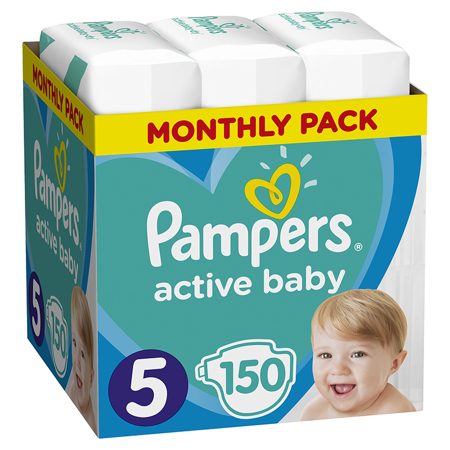 Slika Pampers® Pleničke Active Baby Dry MP vel. 5 (11-16 kg) 150 kosov