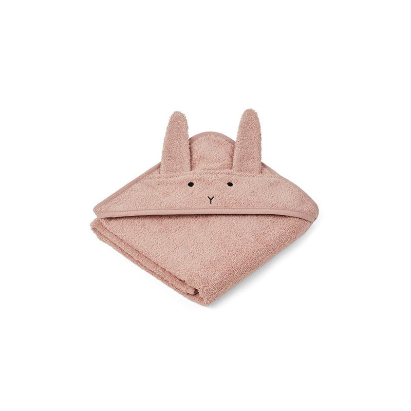 Liewood® Brisača s kapuco Rabbit Rose Baby 70x70