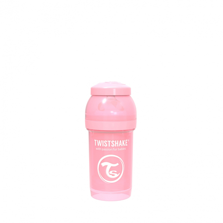 Picture of Twistshake Anti-Colic Bottle 180ml (0+M) - Pastel Pink