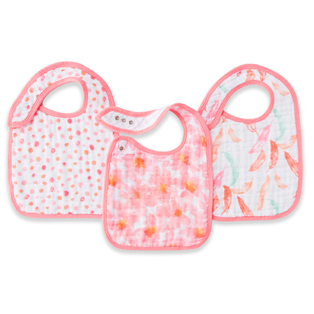 Picture of Aden+Anais Classic Snap Bib 3-Pack - Petal Blooms
