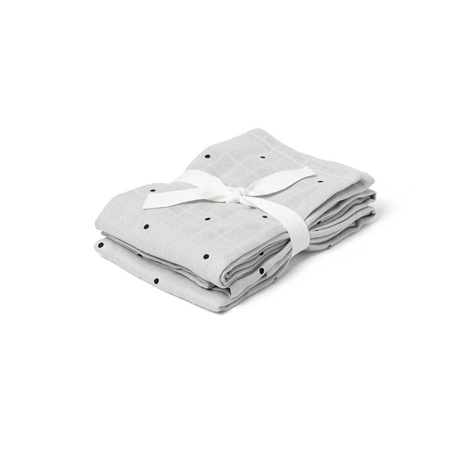 Picture of Liewood® Muslin Cloth 2-Pack Classic Dot - Dumbo Grey