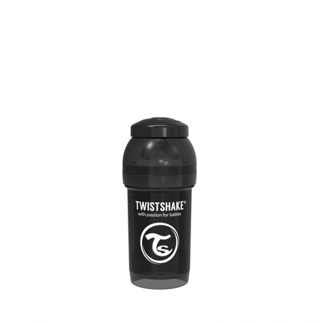 Picture of Twistshake Anti-Colic Bottle 180ml (0+M) - Black