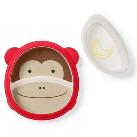 Slika Skip Hop® Otroški multifunkcijski krožnik Opica