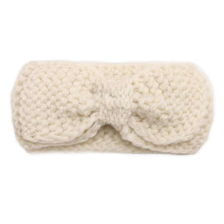 Picture of Knitted Headband With A Tie White