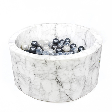 Slika Misioo® Bazen s kroglicami Marble White Velvet Collection