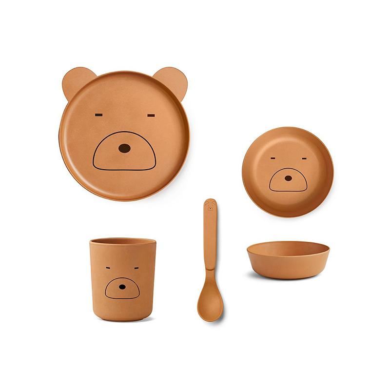 Immagine di Liewood® Set pappa bamboo Mr. Bear Mustard