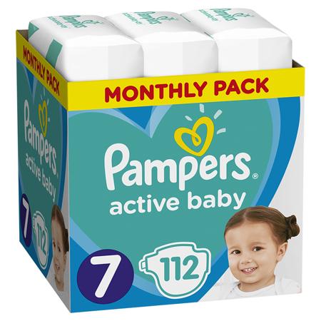 Pampers® Pleničke Active Baby MP Dry vel. 7 (15+ kg) 112 kosov