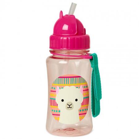 Slika Skip Hop® Steklenička s slamico Lama