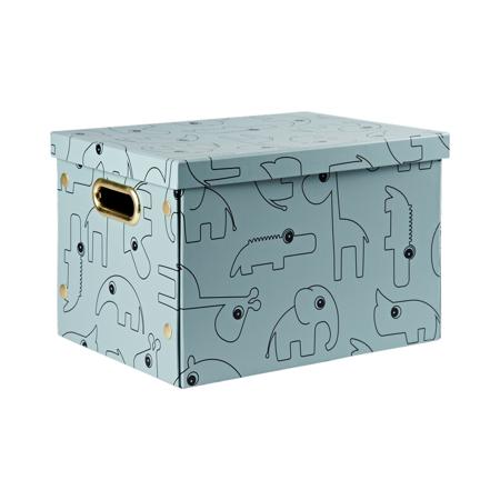 Slika Done by Deer® Zložljiva škatla za shranjevanje Contour Blue
