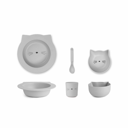 Immagine di Liewood® Set pappa bamboo baby cat Dumbo Grey
