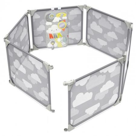 Slika Skip Hop® Otroška varnostna ograja Grey/Clouds