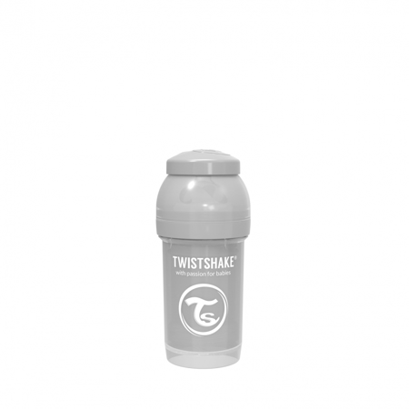 Picture of Twistshake Anti-Colic Bottle 180ml (0+M) - Pastel Grey
