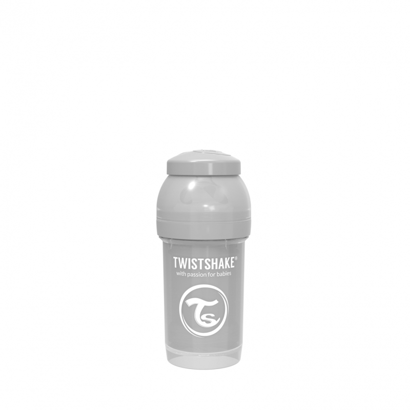 Twistshake® Steklenička Anti-Colic 180ml Pastel (0+m) - Pastel Grey