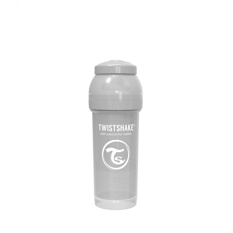 Twistshake® Steklenička Anti-Colic 260ml Pastel (2+m) - Pastel Grey