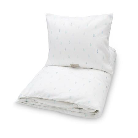 Slika CamCam® Otroška posteljnina Raindrops 70x100 in 100x140 - Baby 70x100, 45x40