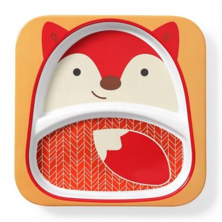 Slika Skip Hop® Otroški deljeni krožnik Lisička