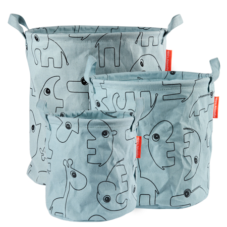 Picture of Done By Deer Storage Baskets 3-pcs Contour - Blue