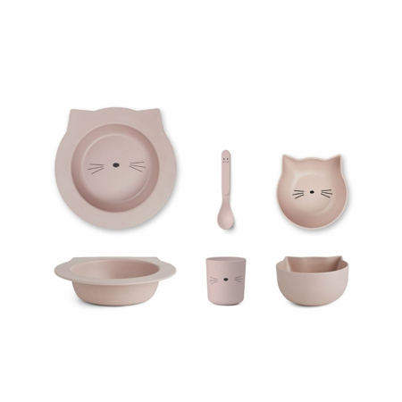 Immagine di Liewood® Set pappa bamboo baby cat Rose