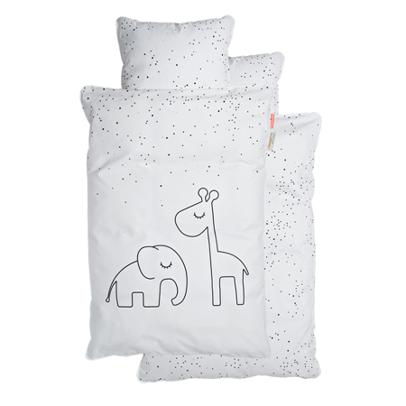 Slika Done by Deer® Posteljnina Dreamy Dots Junior White 100x140