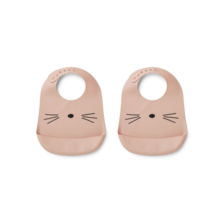Picture of Liewood® Silicone Bib 2-Pack - Cat Rose