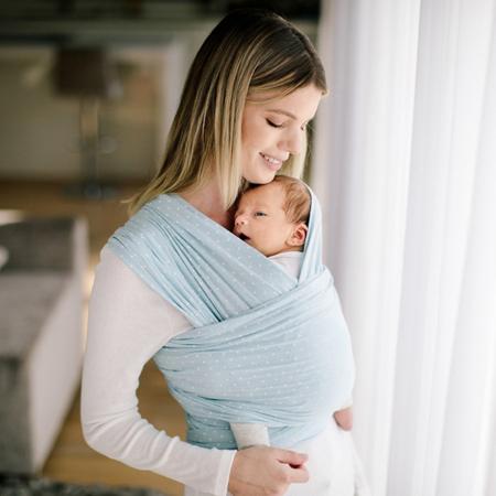 Slika Ergobaby® Nosilka Aura Wrap Baby Blue