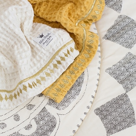 Picture of Elodie Details Waffle Blanket - Gilded Powder
