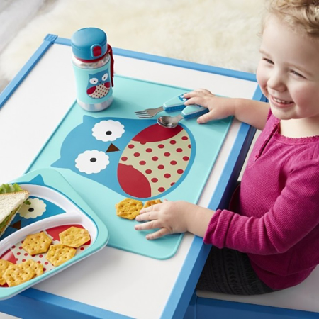 Picture of Skip Hop® Fold&Go Silicone Kids Placemat Owl