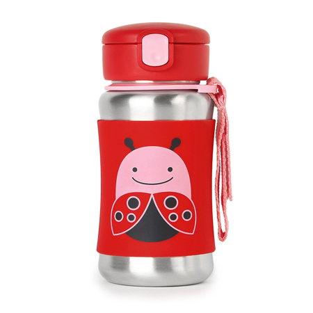 Picture of Skip Hop® Stainless Steel Kids Straw Bottle Ladybug