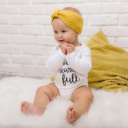 Picture of Knitted Headband Yellow