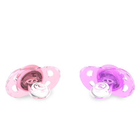 Twistshake® 2x Duda Pastel Pink&Purple (0+/6+)