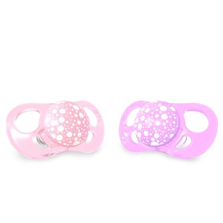 Slika Twistshake® 2x Duda Pastel Pink&Purple (0+/6+)