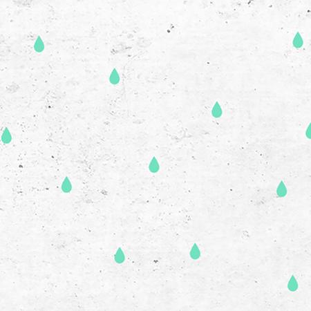 Slika Pick Art Design® Stenske nalepke Dežne kapljice Mint