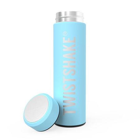 Picture of Twistshake Hot Or Cold Insulated Bottle 420ml - Pastel Blue