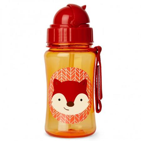 Slika Skip Hop® Steklenička s slamico Lisička