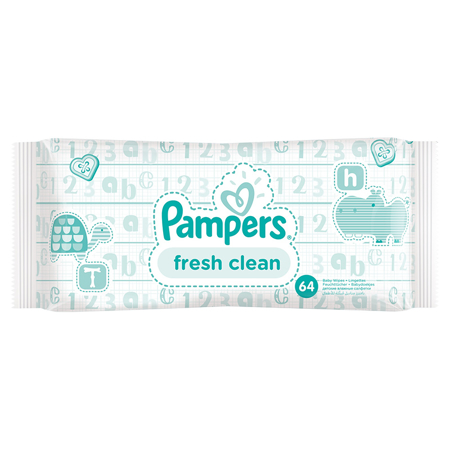 Picture of Pampers® Baby Wipes Baby Fresh Clean Promo Pack 6x64 Pcs.