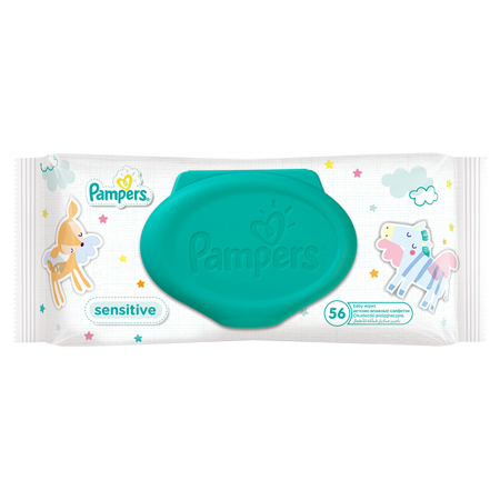 Picture of Pampers® Baby Wipes Sensitive Promo Pack 6x56 Pcs.