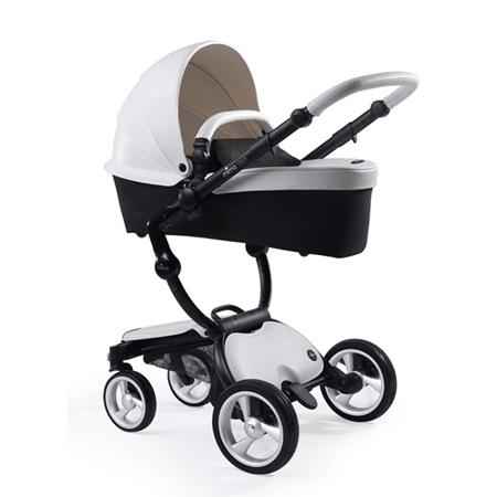 Mima® Otroški voziček s košaro 2v1 Xari Snow White