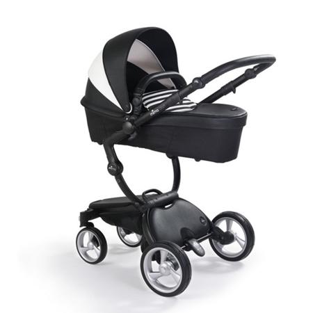 Mima® Otroški voziček s košaro 2v1 Xari Black & White + Starter pack