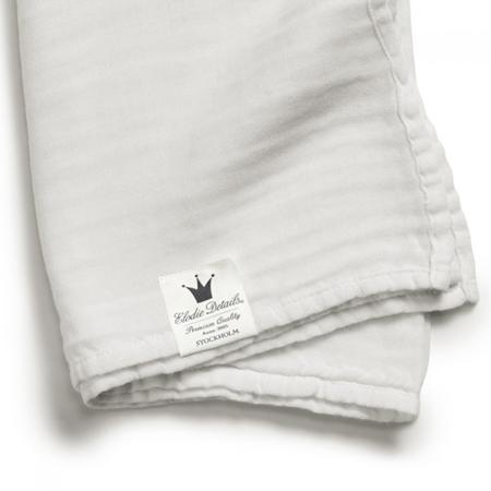 Slika Elodie Details® Mehka muslin odejica Vanilla White 80x80