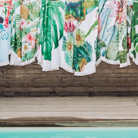 Slika Olala® Okrogla brisača Tropicana